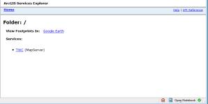 ArcGIS Services Explorer at 9.3